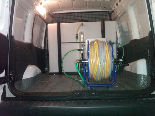 window cleaning van system